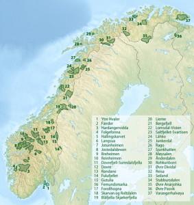 Grafik: © Wikipedia https://de.wikipedia.org/wiki/Nationalparks_in_Norwegen