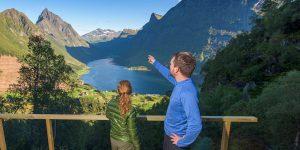 Unbeschreiblicher Ausblick über den Fjord Foto: © Ørjan Bertelsen