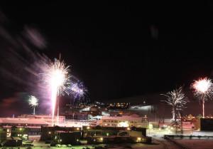 Feuerwerk in Longyearbyen - © terra polaris