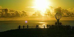 Die Globus-Figur ist das Wahrzeichen des Nordkaps Foto: © Filip Hoel / Gästefoto